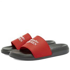 Alexander McQueen Logo Wedge Sole Pool Slide (663564W4QS0-6487)