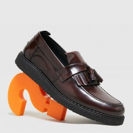 Fred Perry Tassle Loafer GC (Burgandy)