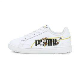 Puma   x PEANUTS Serve Pro Kids Trainers (380937-01)