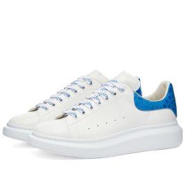 Alexander McQueen Croc Heel Tab Wedge Sole Sneaker (625162WHYB8-9407)