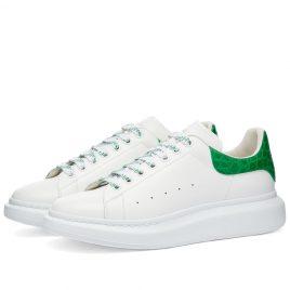 Alexander McQueen Croc Heel Tab Wedge Sole Sneaker (625162WHYB8-9409)