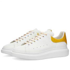 Alexander McQueen Croc Heel Tab Wedge Sole Sneaker (625162WHYB8-9429)