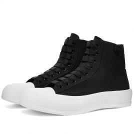 Alexander McQueen Canvas High Top Sneaker (667816W4MV7-1070)