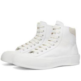 Alexander McQueen Canvas High Top Sneaker (667816W4MV7-9000)